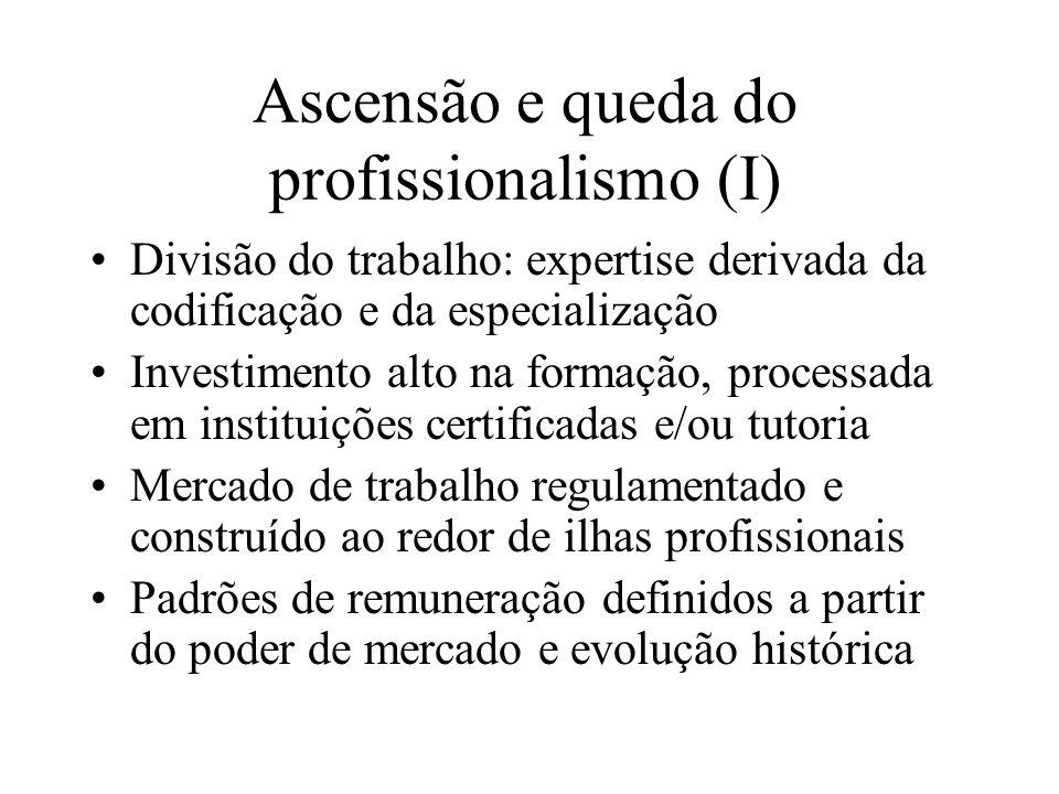 Ascensão e queda do profissionalismo (I)