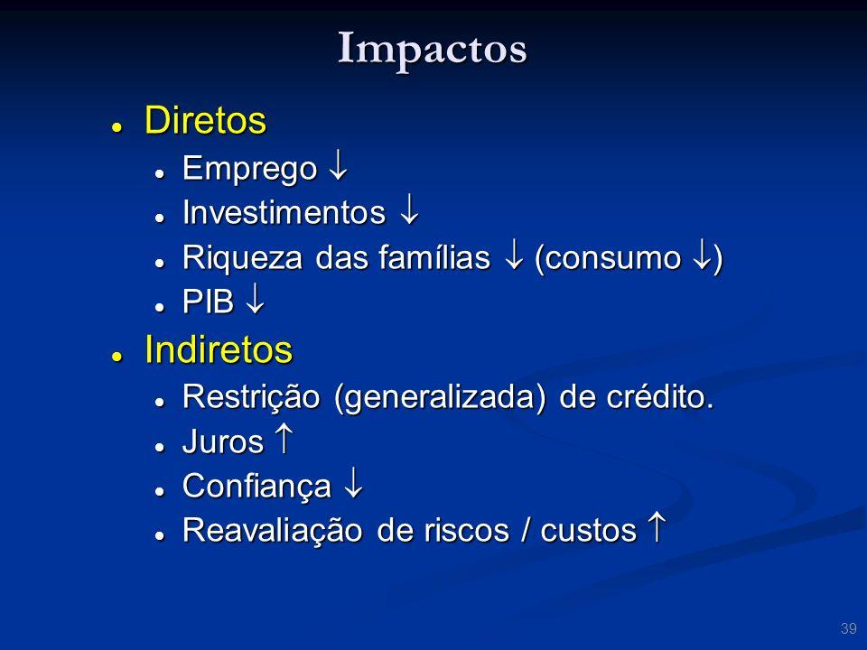 Impactos Diretos Indiretos Emprego  Investimentos 