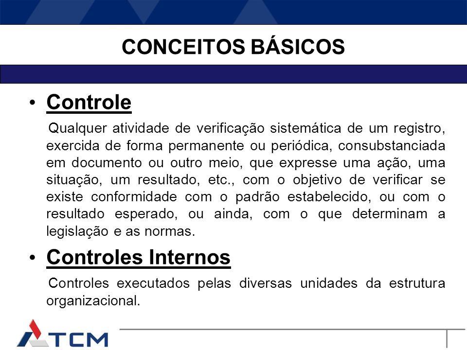 CONCEITOS BÁSICOS Controle Controles Internos