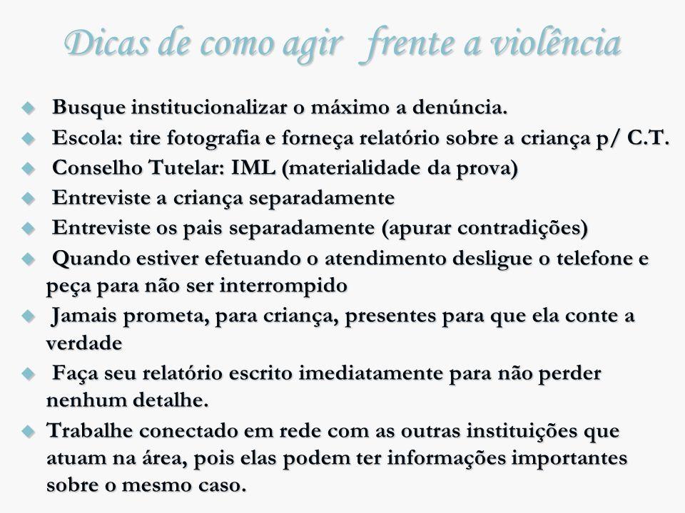 Dicas de como agir frente a violência