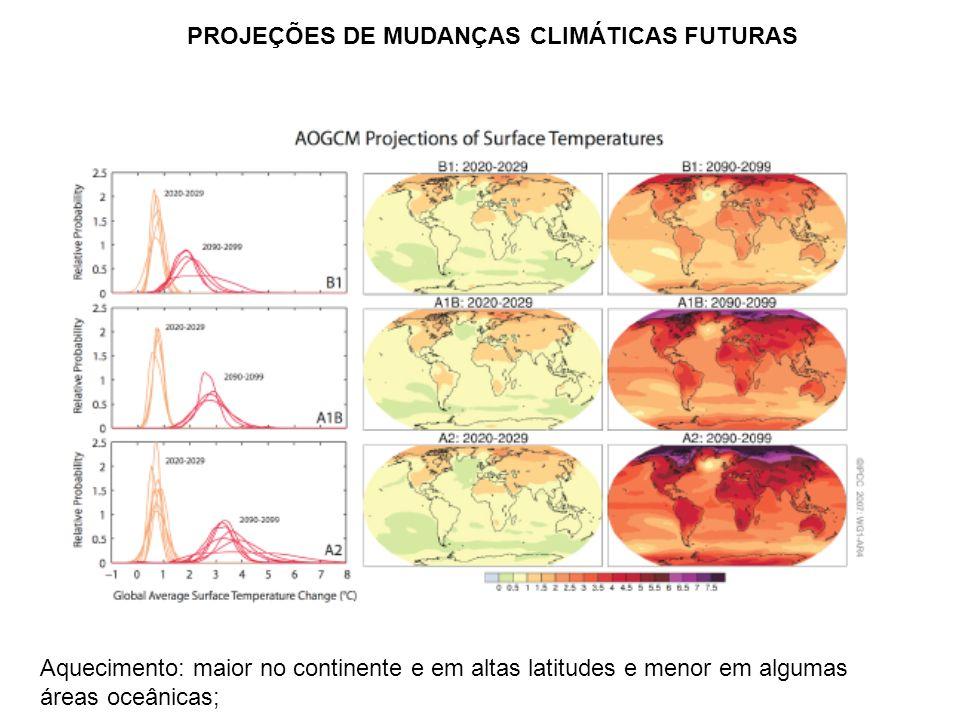 PROJEÇÕES DE MUDANÇAS CLIMÁTICAS FUTURAS