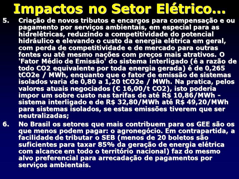 Impactos no Setor Elétrico...