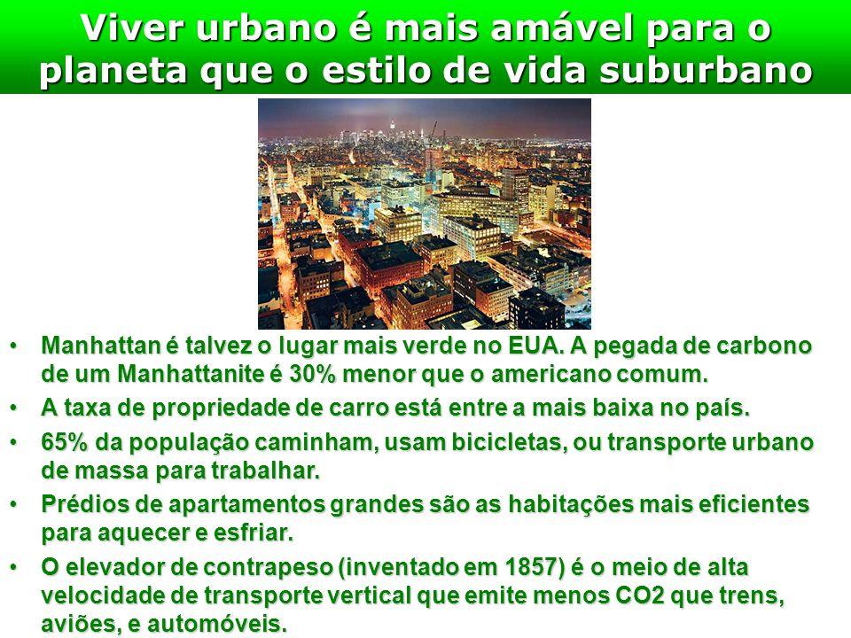 Viver urbano é mais amável para o planeta que o estilo de vida suburbano