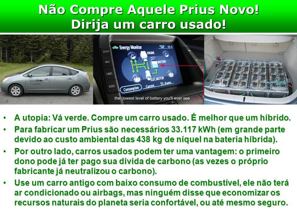 Não Compre Aquele Prius Novo! Dirija um carro usado!