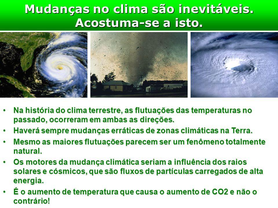 Mudanças no clima são inevitáveis. Acostuma-se a isto.