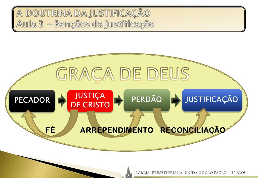 A DOUTRINA DA JUSTIFICAÇÃO Aula 3 - Bençãos da justificação