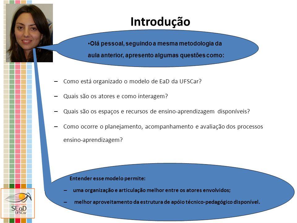Introdução Como está organizado o modelo de EaD da UFSCar