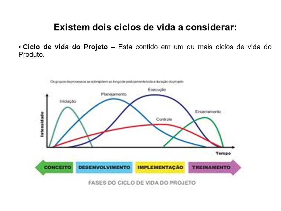 Existem dois ciclos de vida a considerar: