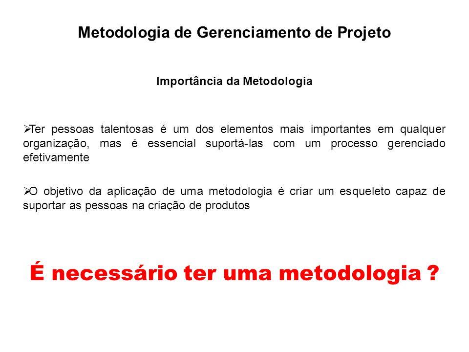 É necessário ter uma metodologia