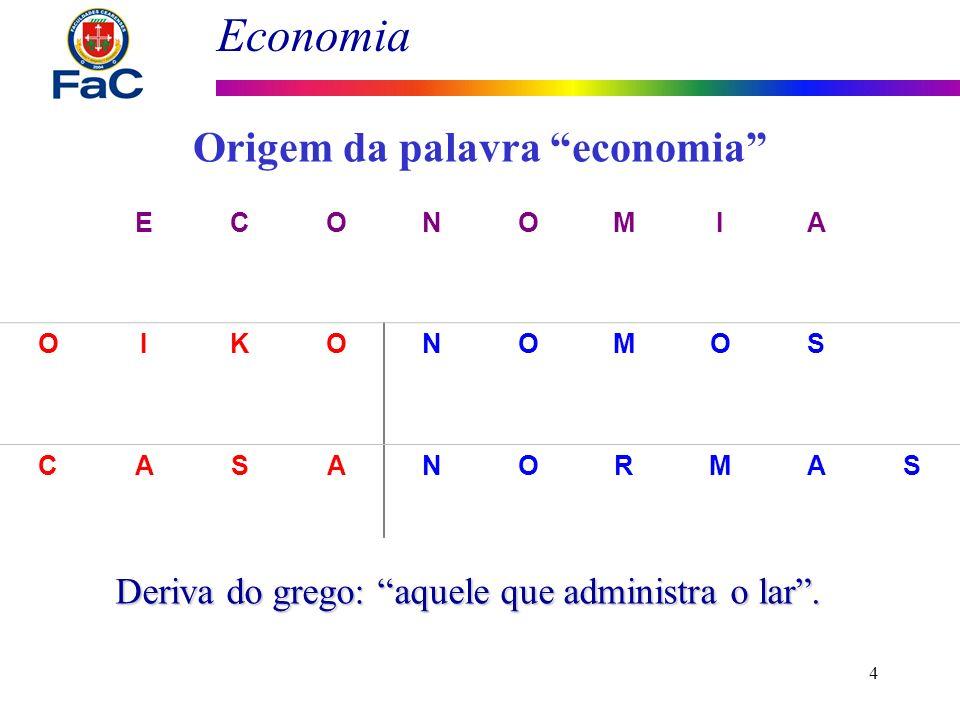 Origem da palavra economia