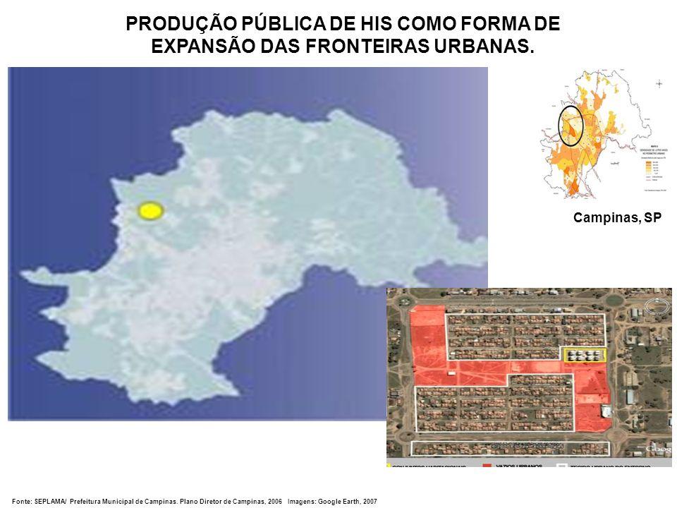 PRODUÇÃO PÚBLICA DE HIS COMO FORMA DE EXPANSÃO DAS FRONTEIRAS URBANAS.