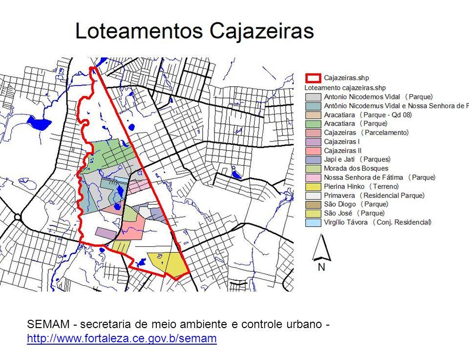 SEMAM - secretaria de meio ambiente e controle urbano - http://www