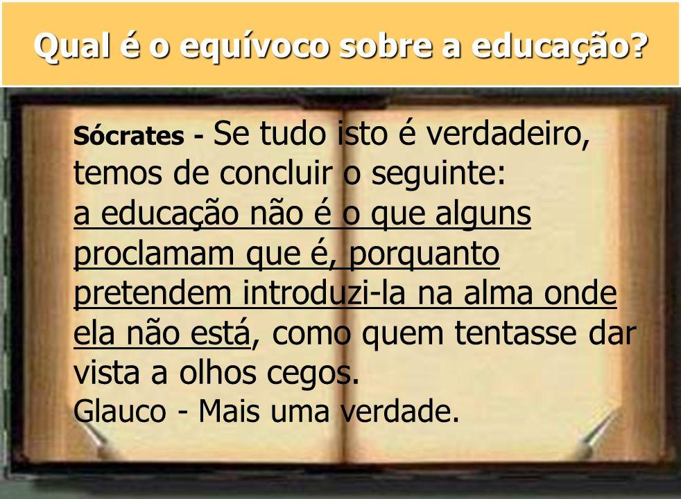 Qual é o equívoco sobre a educação