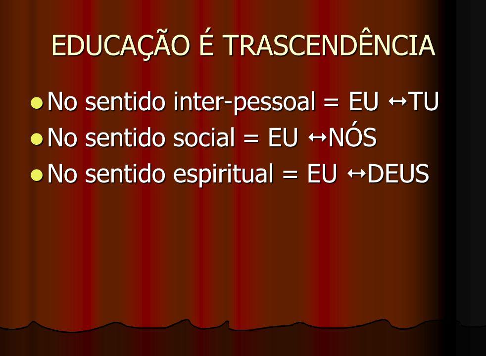 EDUCAÇÃO É TRASCENDÊNCIA