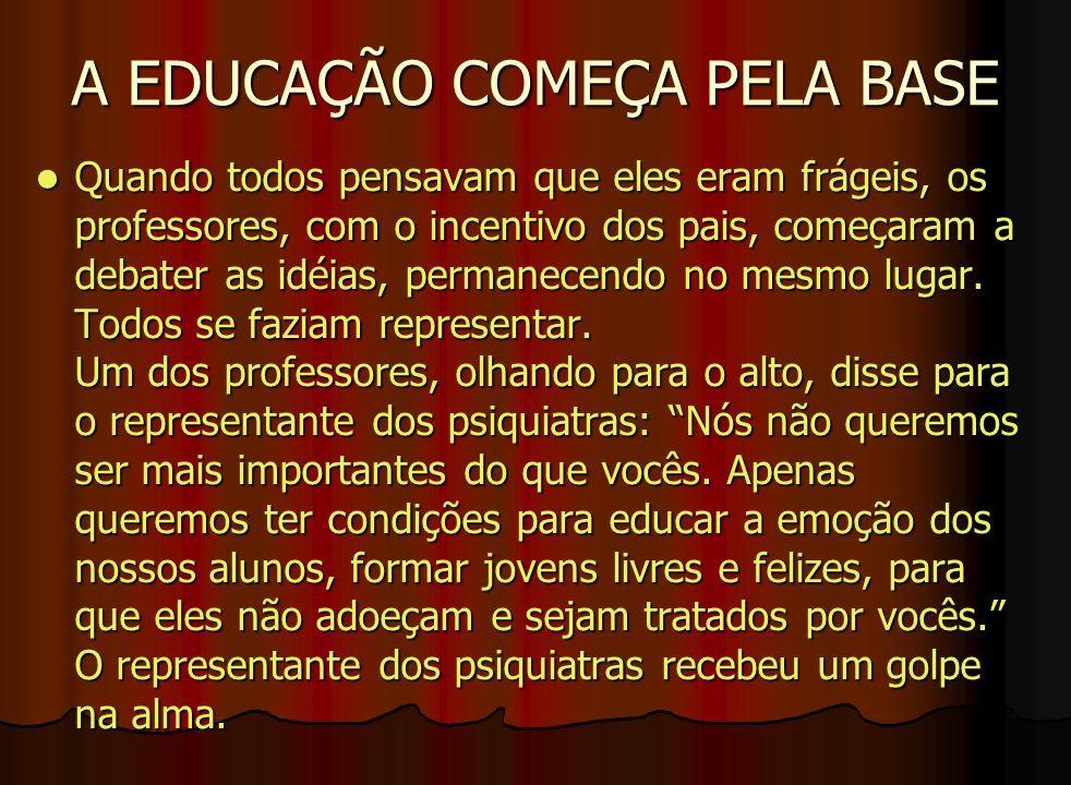 A EDUCAÇÃO COMEÇA PELA BASE