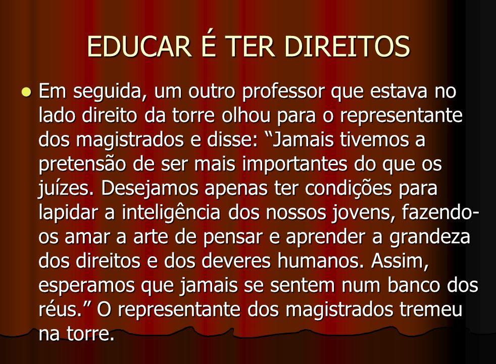 EDUCAR É TER DIREITOS