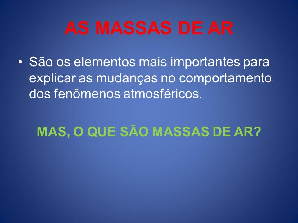 MAS, O QUE SÃO MASSAS DE AR