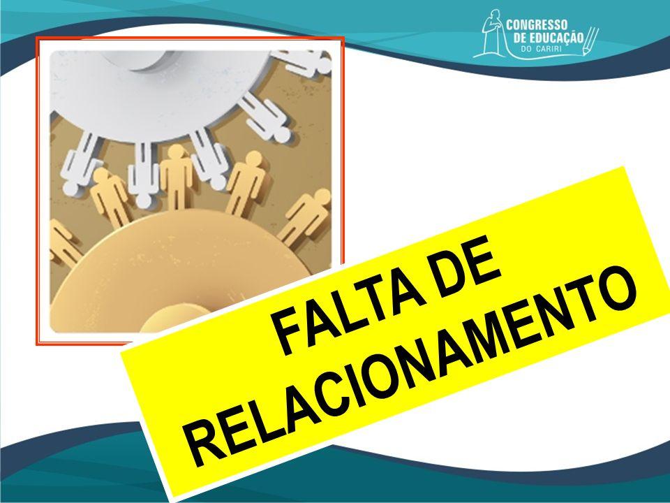 FALTA DE RELACIONAMENTO