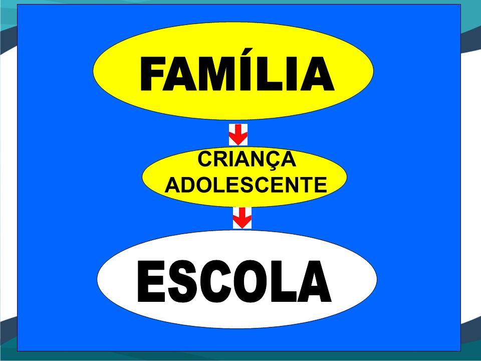 FAMÍLIA CRIANÇA ADOLESCENTE ESCOLA