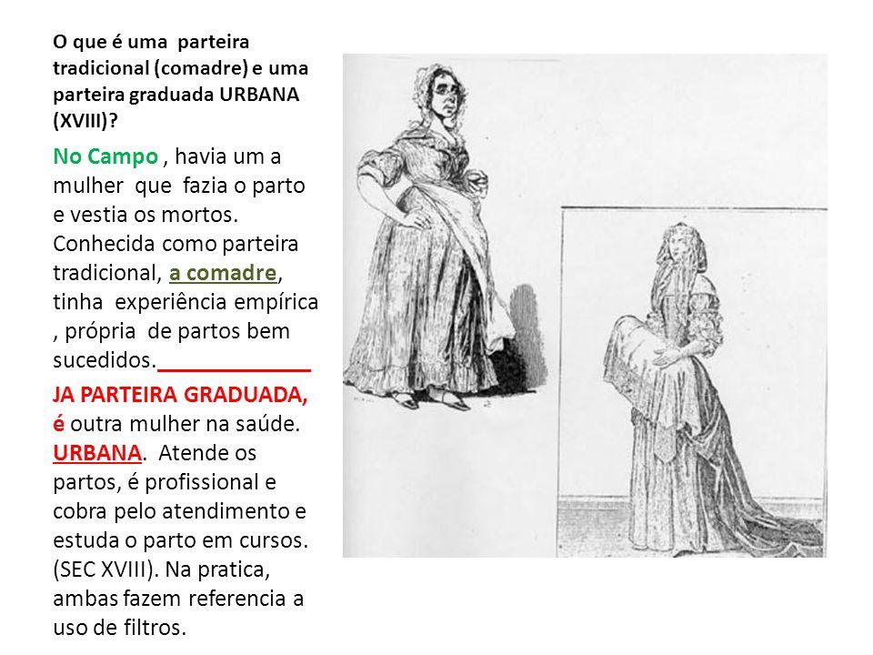 O que é uma parteira tradicional (comadre) e uma parteira graduada URBANA (XVIII)