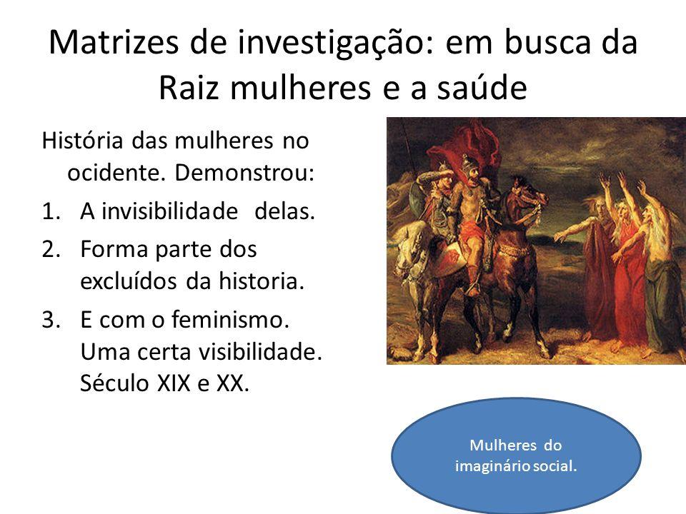 Matrizes de investigação: em busca da Raiz mulheres e a saúde