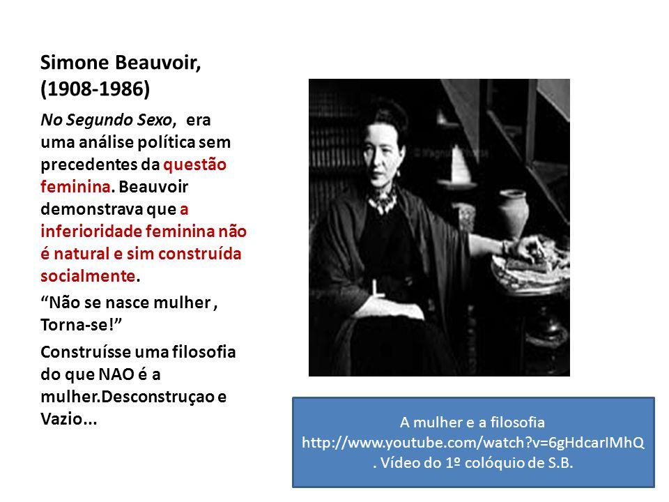 Simone Beauvoir, (1908-1986)