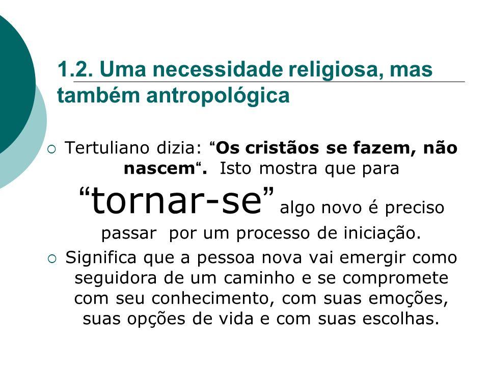 1.2. Uma necessidade religiosa, mas também antropológica