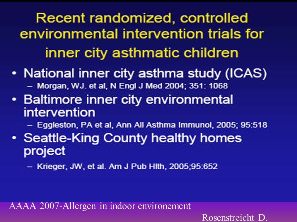 AAAA 2007-Allergen in indoor environement
