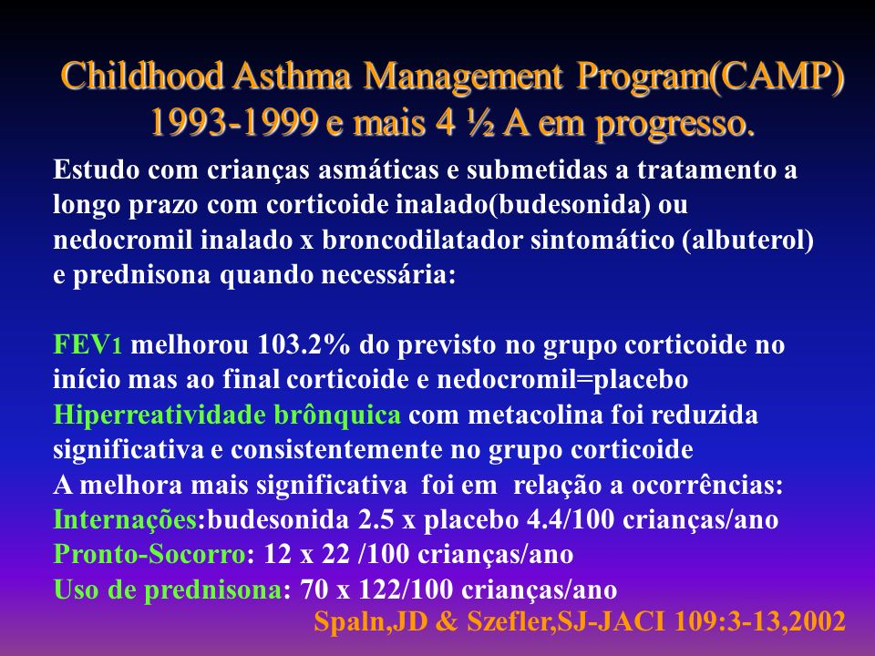 Childhood Asthma Management Program(CAMP)