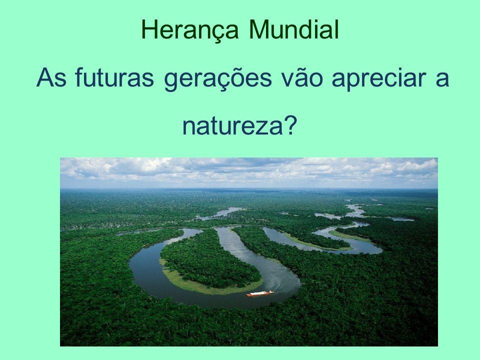 As futuras gerações vão apreciar a natureza