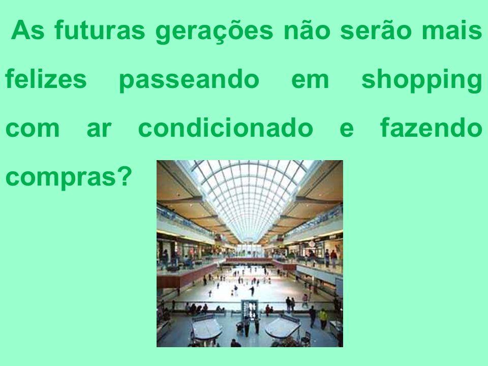 As futuras gerações não serão mais felizes passeando em shopping com ar condicionado e fazendo compras