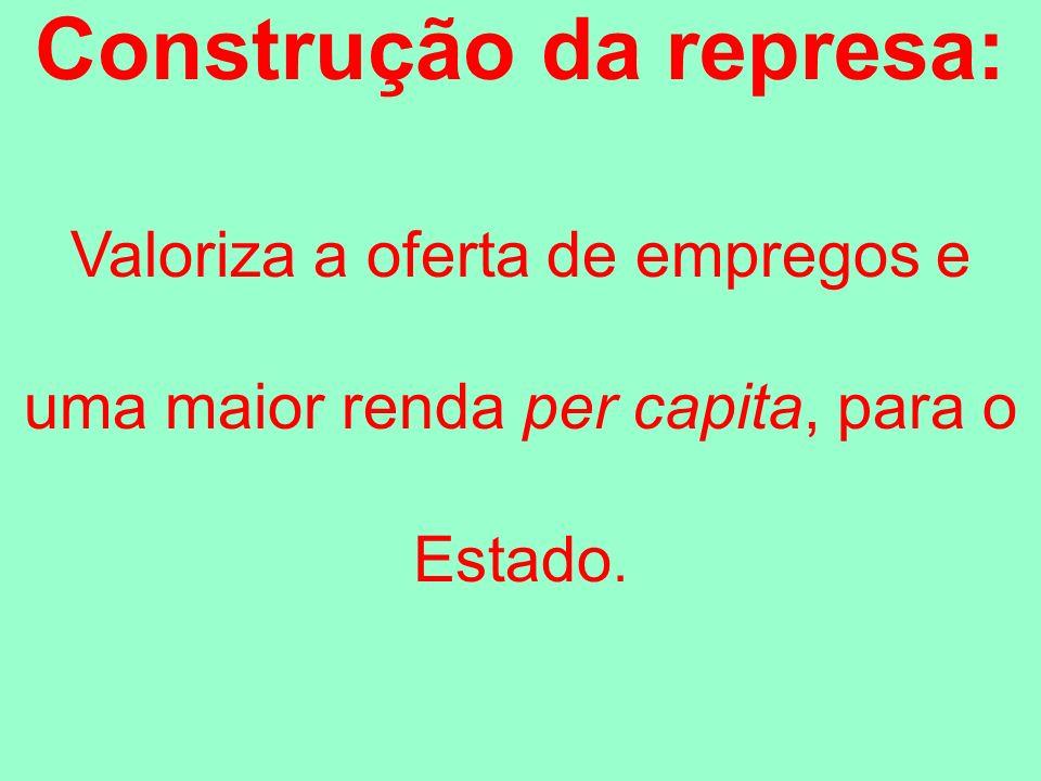 Construção da represa: