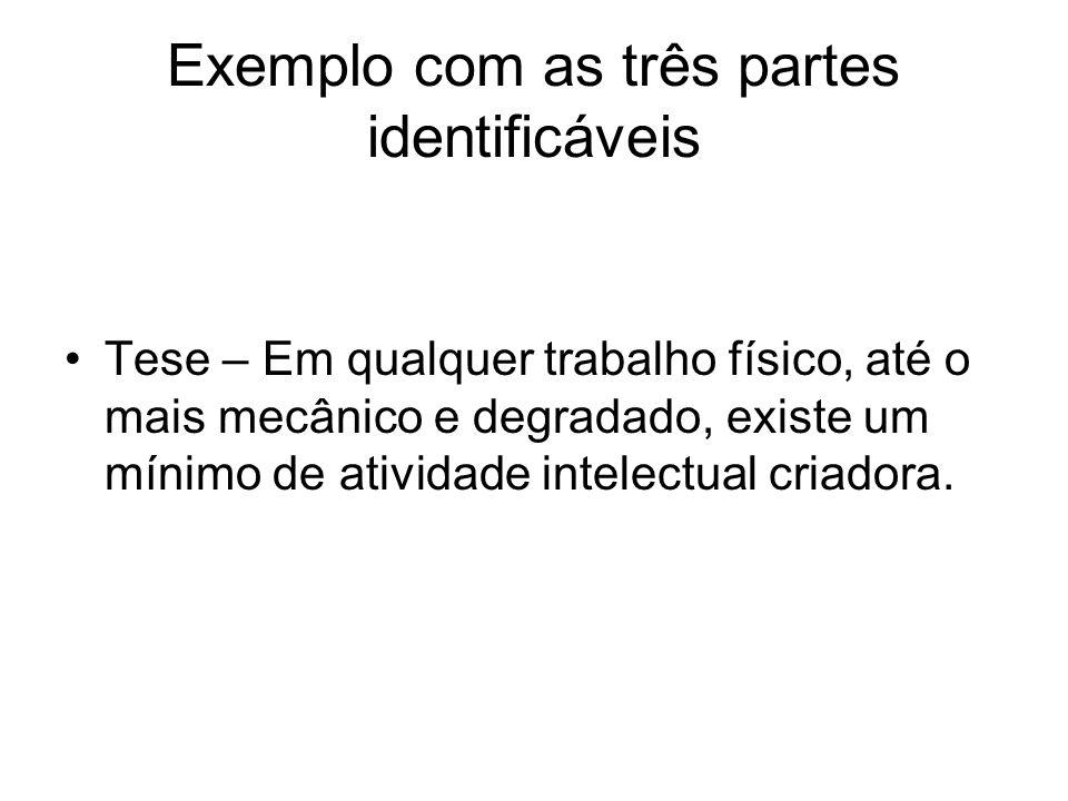 Exemplo com as três partes identificáveis