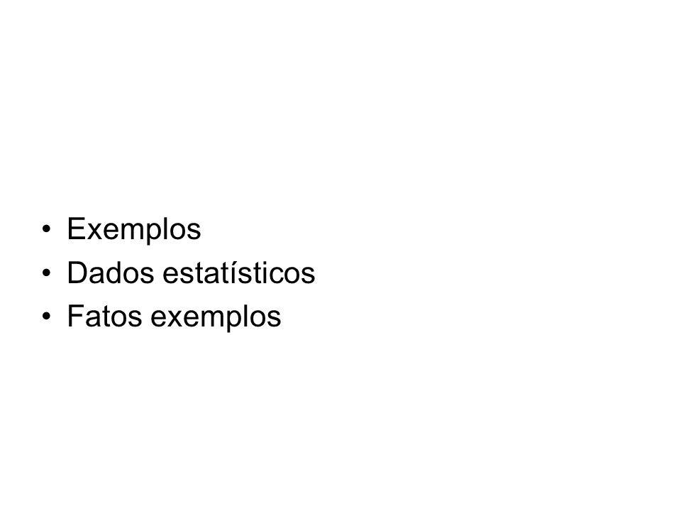Exemplos Dados estatísticos Fatos exemplos