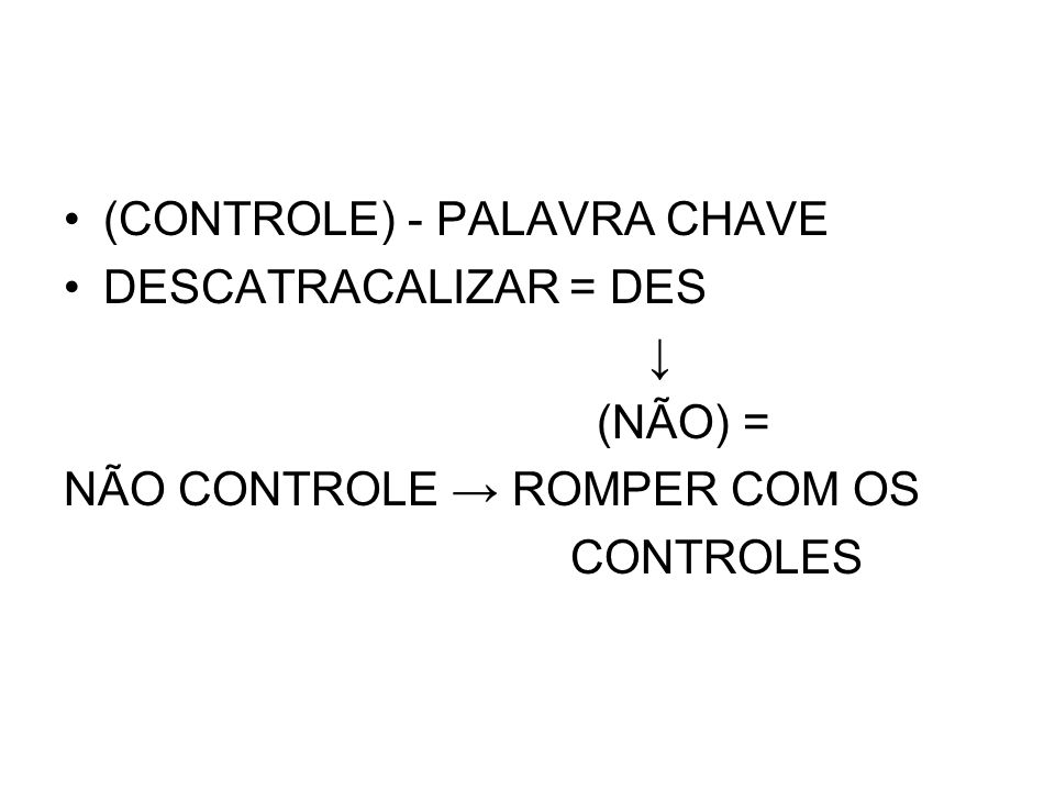 (CONTROLE) - PALAVRA CHAVE