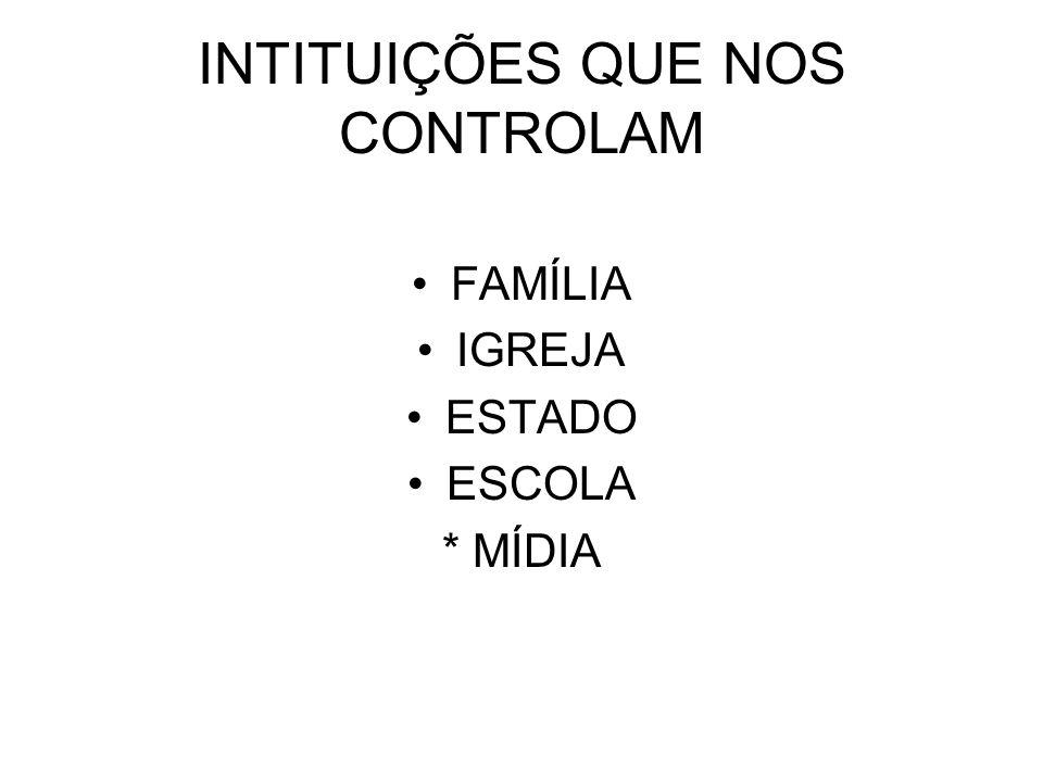INTITUIÇÕES QUE NOS CONTROLAM