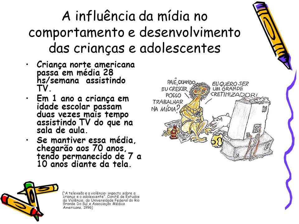 A influência da mídia no comportamento e desenvolvimento das crianças e adolescentes