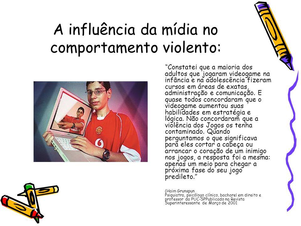 A influência da mídia no comportamento violento: