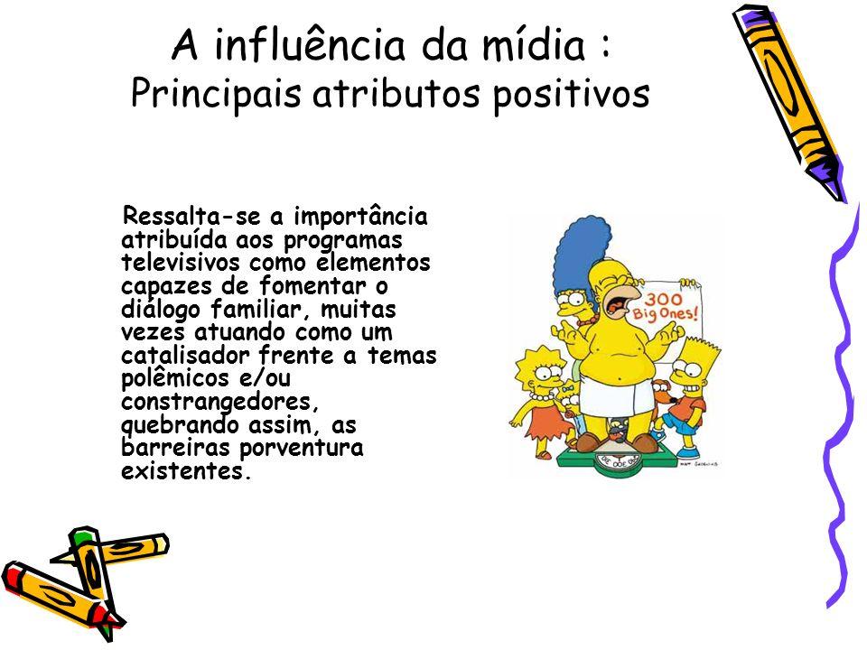 A influência da mídia : Principais atributos positivos