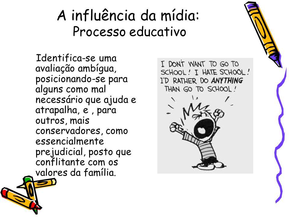 A influência da mídia: Processo educativo