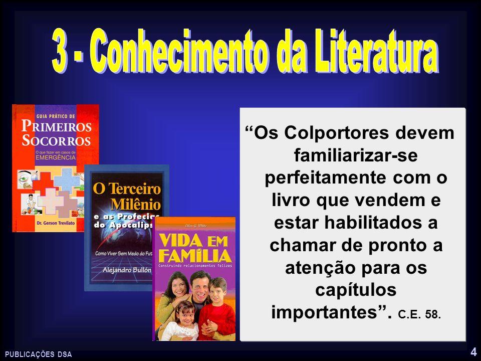 3 - Conhecimento da Literatura