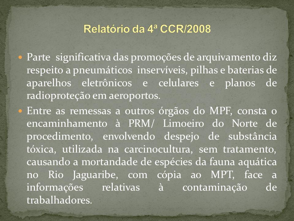 Relatório da 4ª CCR/2008