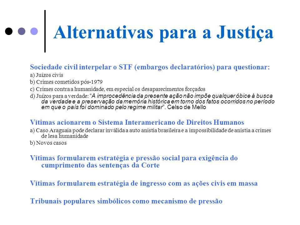Alternativas para a Justiça
