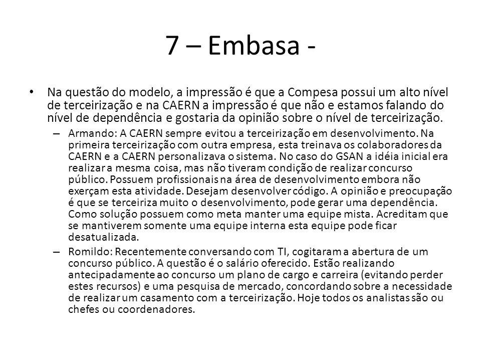 7 – Embasa -