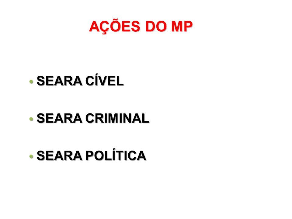 AÇÕES DO MP SEARA CÍVEL SEARA CRIMINAL SEARA POLÍTICA