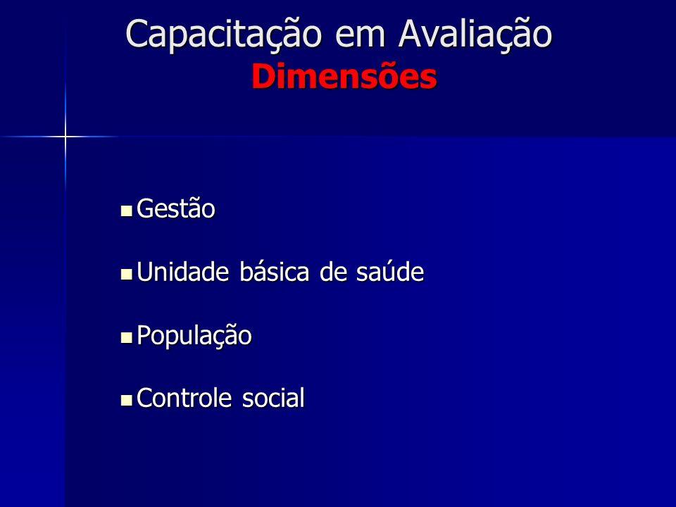 Capacitação em Avaliação Dimensões
