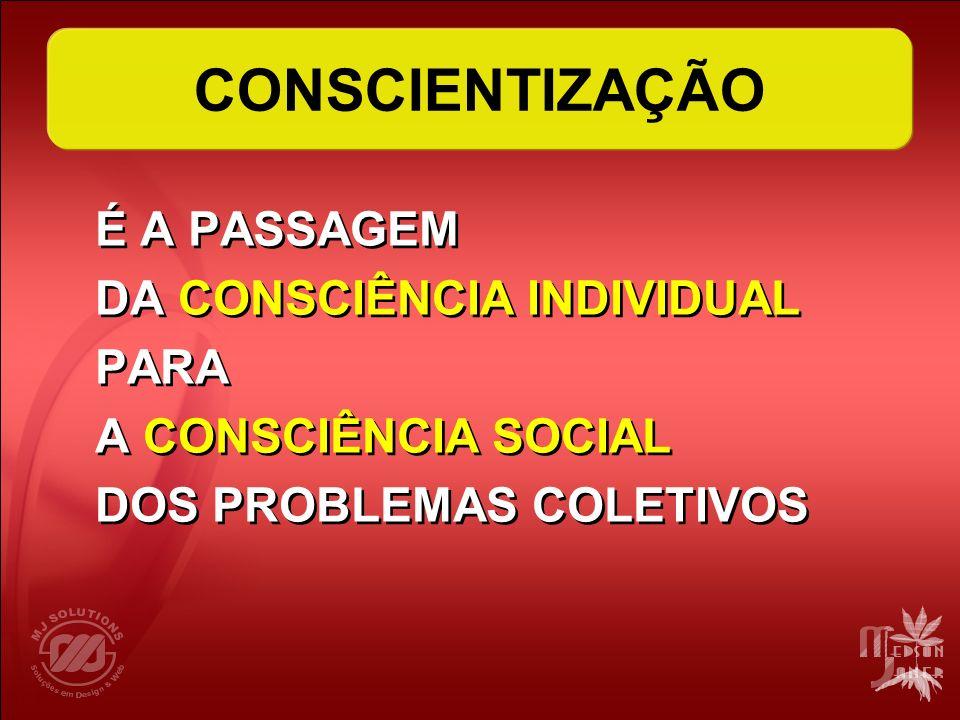 CONSCIENTIZAÇÃO DA CONSCIÊNCIA INDIVIDUAL PARA A CONSCIÊNCIA SOCIAL