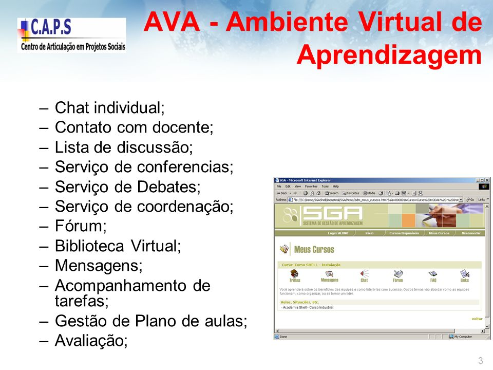 AVA - Ambiente Virtual de Aprendizagem
