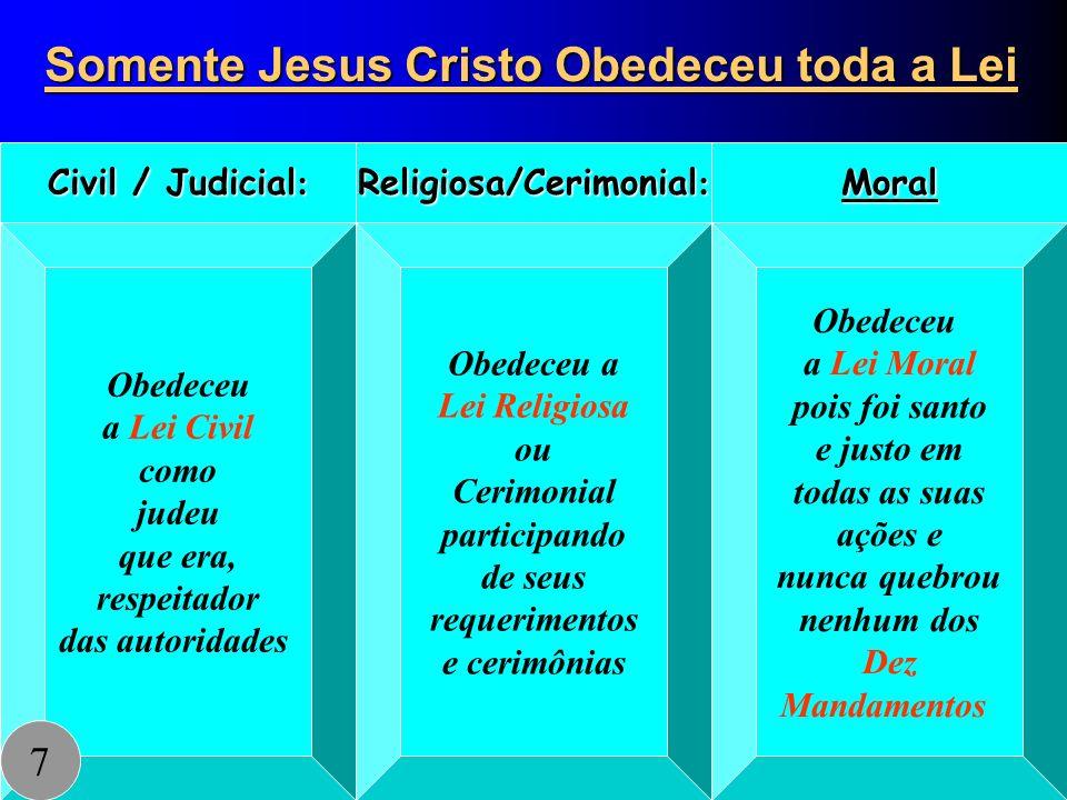 Somente Jesus Cristo Obedeceu toda a Lei