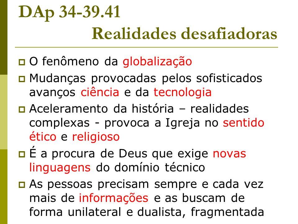 DAp 34-39.41 Realidades desafiadoras